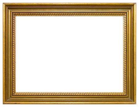 gild: Oro cornice vuota isolato  Archivio Fotografico