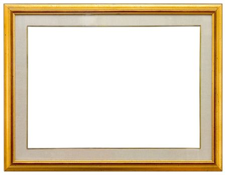 sculpt: Empty gold frame Stock Photo