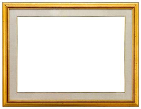 gild: Oro cornice vuota  Archivio Fotografico