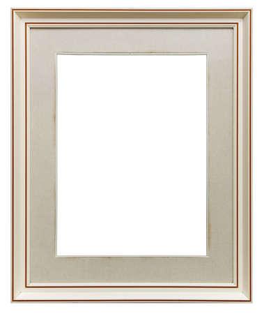 ornated: Struttura in legno bianco isolato  Archivio Fotografico