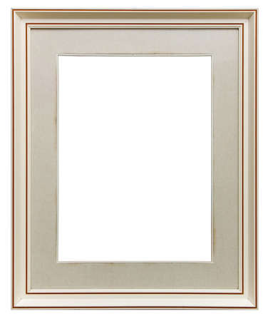White wooden frame isolated photo