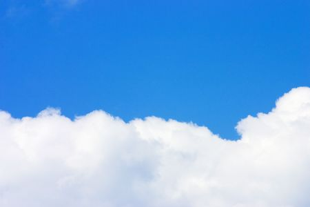 Bright blue sky and a cloud Stock Photo - 391775