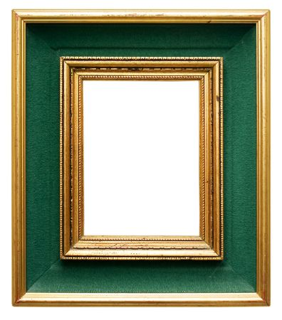 Green frame with gilded borders Stock Photo - 419277
