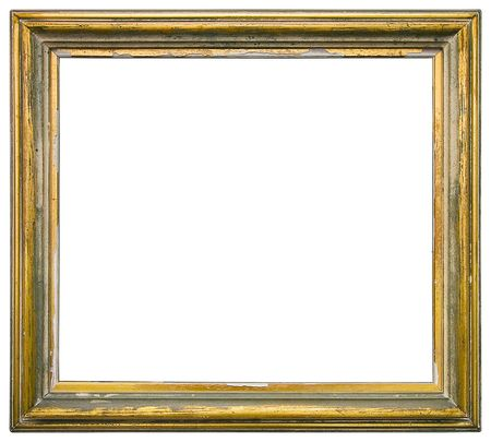 sculpt: Empty gilded picture frame