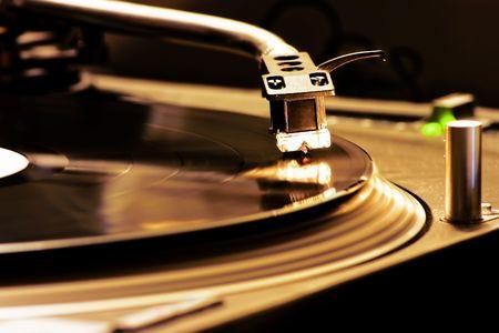 DJ Turntable, closeup of a Dj turntable player photo