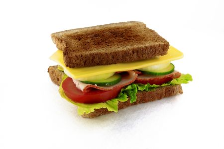 A delicious and healthy sandwich.