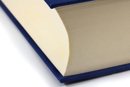 Macro photo of the closed book.