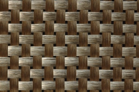 Carbon fiber weave in early stage of composite material fabrication,