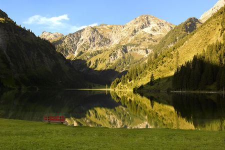 lake and alps photo