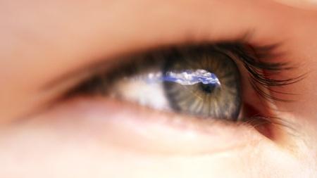 eye macro with alps Stock Photo - 8262351