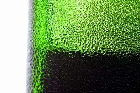 Water drop on green bottle Stock Photo - 9983480