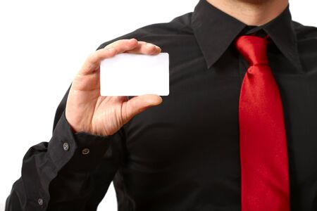 business card. Copy space for your own text.