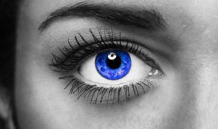 woman eyeball: Details of beauty.  Stock Photo