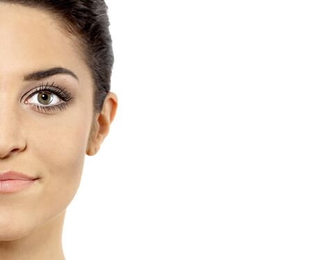 여성 모델의 얼굴의보기 프로필. 사진 촬영 : 2009 년 8 월을, 2011 년은