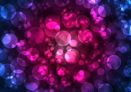 Abstract glowing circles on a colorful background like digital bokeh effect. Stock Photo
