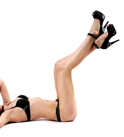 Sexy woman posing in underwear. Stock Photo