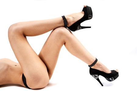 Sexy female legs and heels. Stock Photo
