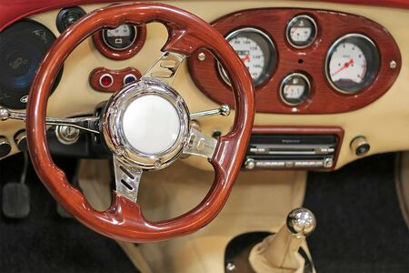 steering-wheel and control panel Stock Photo - 4305913