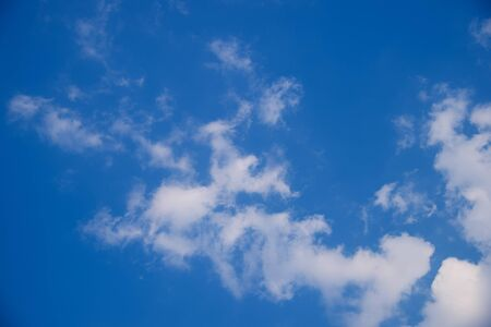White clouds in the blue sky. blue sky background