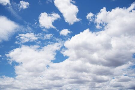 clouds in the blue sky. blue sky background