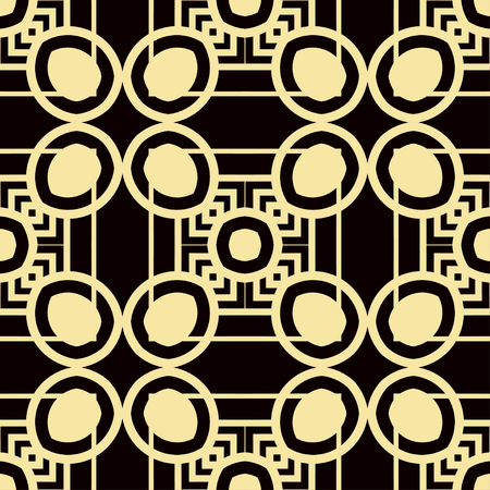 Art Deco Pattern. Seamless vintage background. Minimalistic geometric design. Vector line design. 1920-30s motifs. Luxury vintage illustration