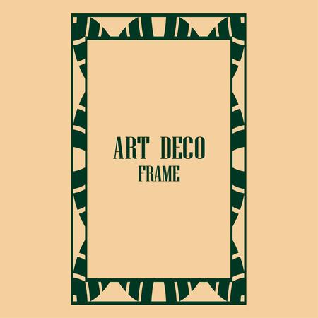 art deco vintage border frame vector design template illustration