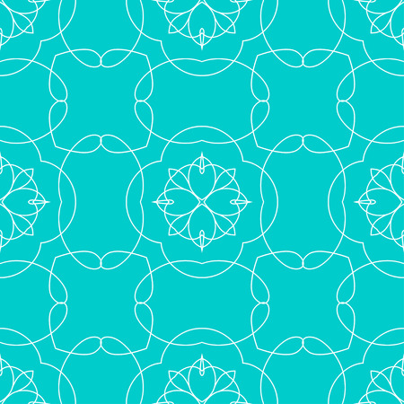 Seamless abstract floral art deco pattern. Modern vector graphic. Colored deco background. Geometric ornament