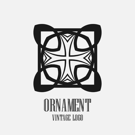 Art deco vintage logo design. Vector illustration