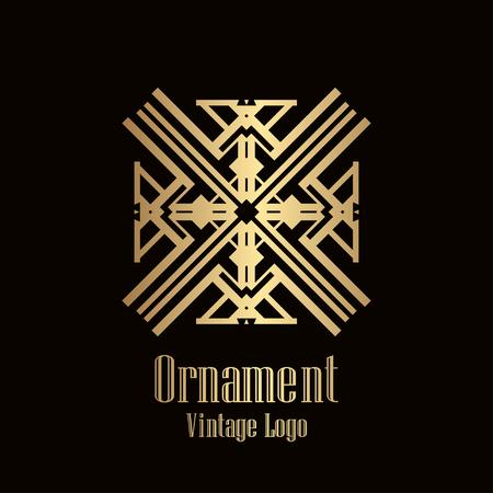 Art deco vintage badge logo retro design vector illustration