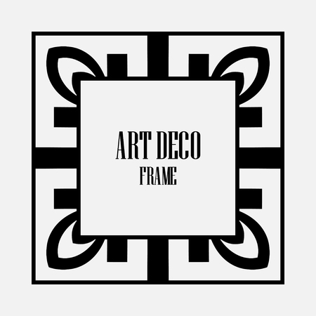 Luxury antique art deco geometric vintage border, frame Archivio Fotografico - 111225373