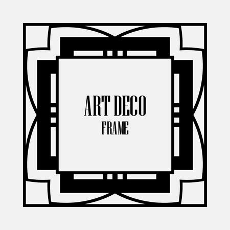 Luxury antique art deco geometric vintage border, frame