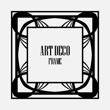 Luxury antique art deco geometric vintage border, frame 矢量图像
