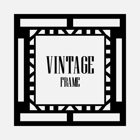 Luxury antique art deco geometric vintage border, frame Vettoriali
