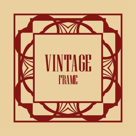Art deco vintage frame design. Vector illustration