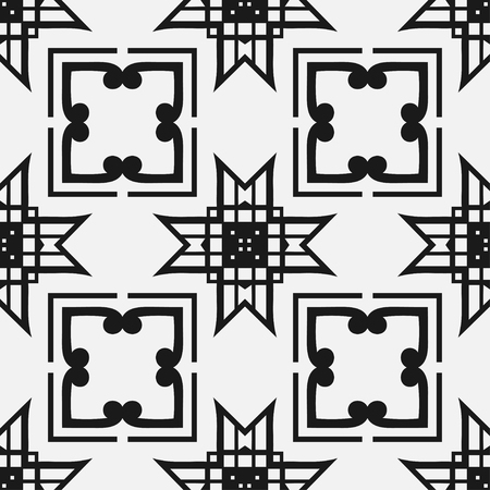 Art Deco seamless vintage wallpaper pattern. Geometric decorative background