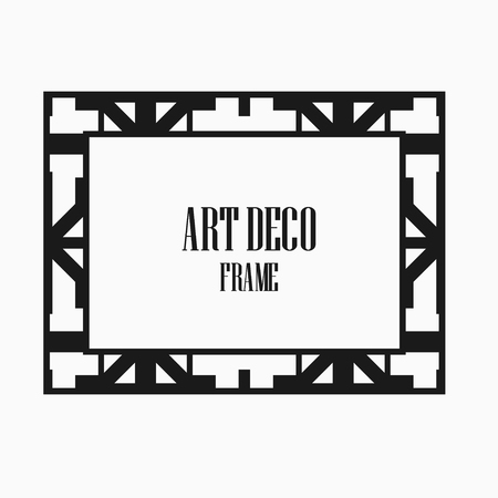 Art deco vintage frame design. Vector illustration