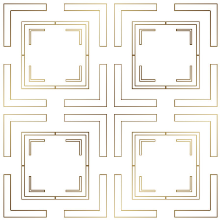 Art Deco Pattern. Seamless golden background. Minimalistic geometric design. Vector line design. 1920-30s motifs. Luxury vintage illustration Illusztráció