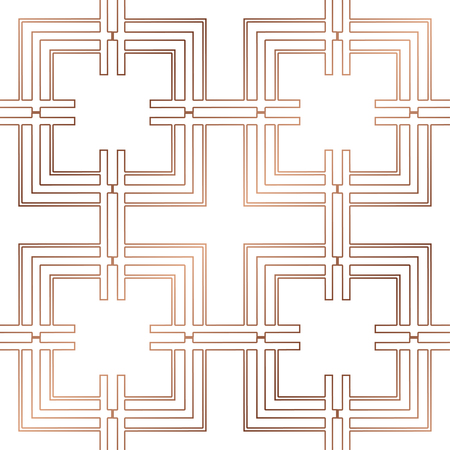 Art Deco Pattern. Seamless golden background. Minimalistic geometric design. Vector line design. 1920-30s motifs. Luxury vintage illustration Иллюстрация