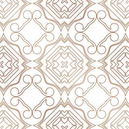 Art Deco Pattern. Seamless golden background. Minimalistic geometric design. Vector line design. 1920-30s motifs. Luxury vintage illustration Illustration