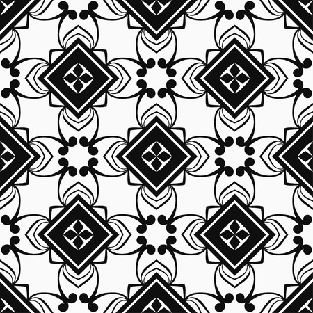 Abstract Art Deco Tiles Seamless Vector Pattern. Geometric texture. Repeating background. Illustration