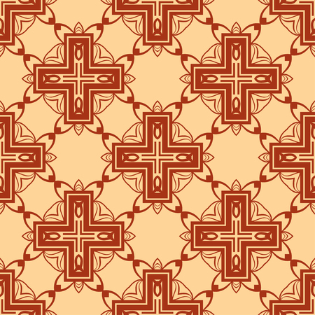 Abstract Art Deco Tiles Seamless Vector Pattern. Geometric texture. Repeating background. Vectores