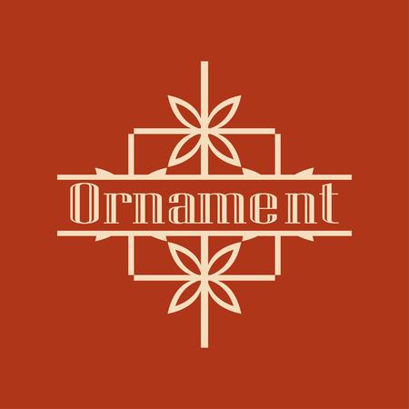 Luxury antique art deco monochrome hipster minimal ornamental geometric vintage linear vector frame , border , label for logo, badge design Logo