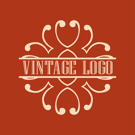 Luxury antique art deco monochrome hipster minimal ornamental geometric vintage linear vector frame , border , label for logo, badge design