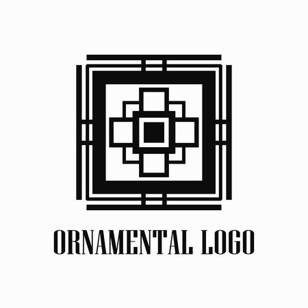 Art deco monochrome luxury antique hipster minimal geometric vintage linear vector logo, badge design for club, bar, cafe, restaurant, hotel, boutique Logo