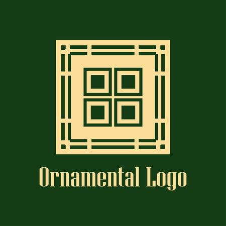 Art deco monochrome luxury antique hipster minimal geometric vintage linear vector logo, badge design for club, bar, cafe, restaurant, hotel, boutique