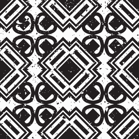 Vector modern tiles pattern. Abstract art deco seamless monochrome background Stock Illustratie