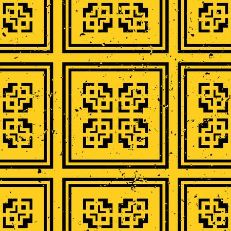 Patrón de azulejos modernos de vector. Fondo monocromo transparente art deco abstracto Ilustración de vector