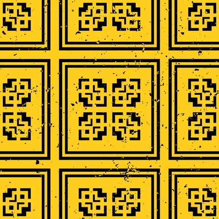 Vector modern tiles pattern. Abstract art deco seamless monochrome background 向量圖像