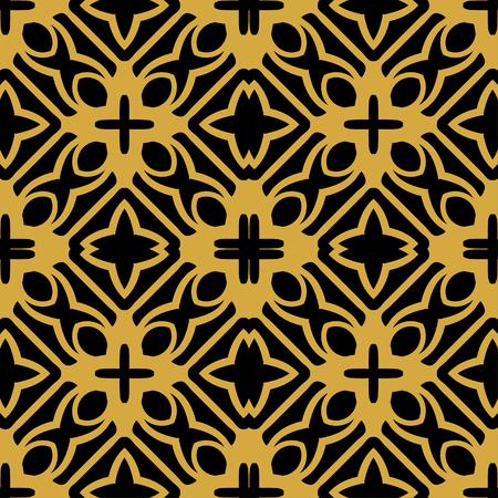 Astratto sfondo ornamentale vintage retrò art deco senza soluzione di continuità Vettoriali