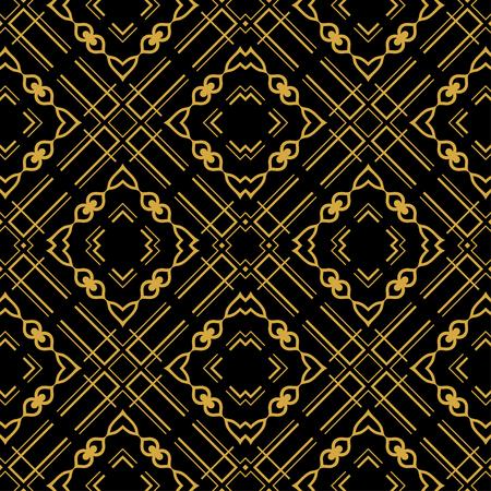 Abstract seamless retro art deco vintage ornamental background Vektoros illusztráció